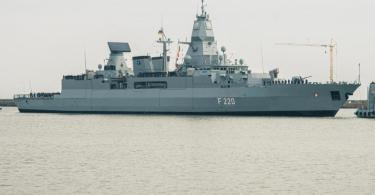 Deutschland schickt die Fregatte «Hamburg» für einen EU-Marineeinsatz vor Libyen ins Mittelmeer. Foto: Mohssen Assanimoghaddam/dpa