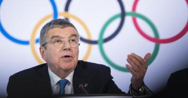 Thomas Bach ist der Präsident des Internationalen Olympischen Komitees (IOC). Foto: Jean-Christophe Bott/KEYSTONE/dpa