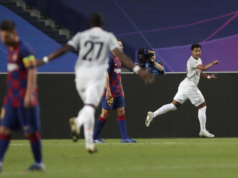 Gnabry markierte den dritten Treffer der Bayern. Foto: Manu Fernandez/AP Pool/dpa