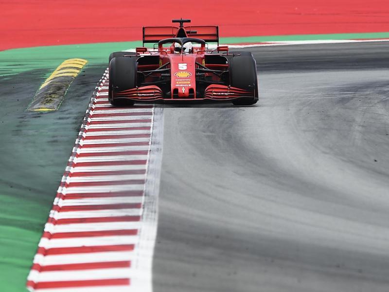 Sebastian Vettel vom Team Ferrari steuerte sein Auto beim Großen Preis von Spanien auf den siebten Rang. Foto: Josep Lago/Pool AFP/AP/dpa