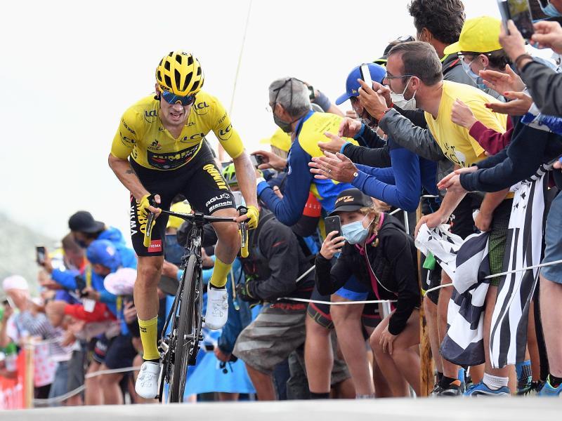 Primoz Roglic machte einen großen Schritt in Richtung Gesamtsieg bei der Tour de France. Foto: Pool/BELGA/dpa