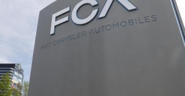 Das Logo des Hauptquartiers des Automobilherstellers Fiat Chrysler am Hauptsitz in Auburn Hills. Foto: Paul Sancya/AP/dpa