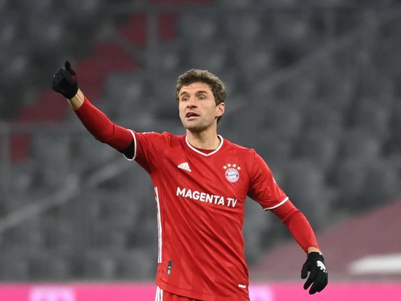 Gehört noch nicht zum 'Altglas': Bayerns Triple-Sieger Thomas Müller. Foto: Sven Hoppe/dpa