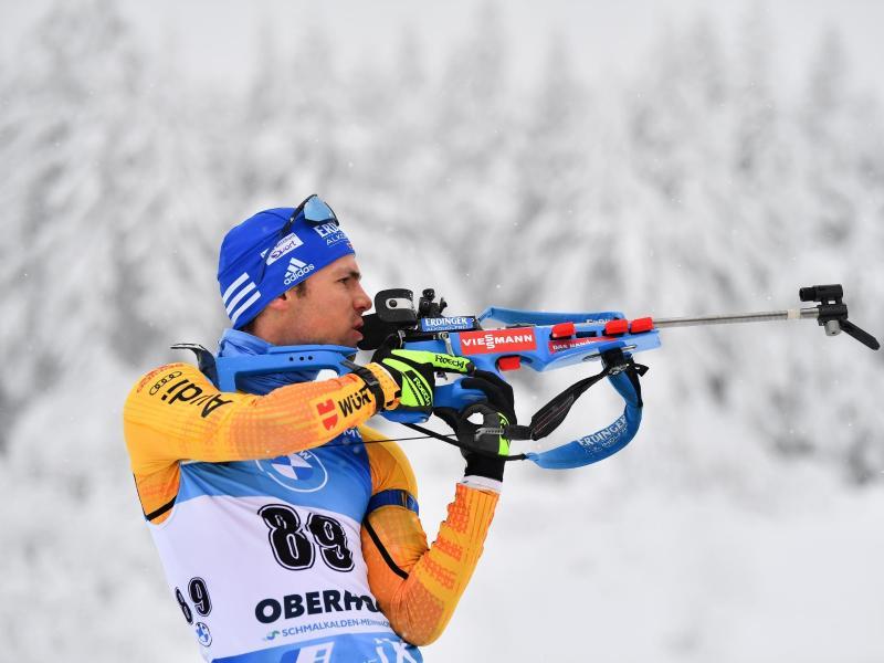 Simon Schempp kam in Oberhof im Sprint nur auf den 58. Rang. Foto: Martin Schutt/dpa-Zentralbild/dpa