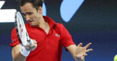 Sicherte sich mit Russland den ATP Cup: Daniil Medwedew. Foto: Hamish Blair/AP/dpa