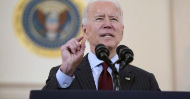 US-Präsident Joe Biden gedenkt mit einer Ansprache der rund 500.00 Corona-Toten im Land. Foto: Evan Vucci/AP/dpa