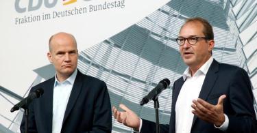 Stehen unter Druck:Unionsfraktionschef Ralph Brinkhaus und CSU-Landesgruppenchef Alexander Dobrindt. Foto: Wolfgang Kumm/dpa