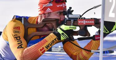 Will im Jagdrennen in Nove Mesto für eine gute deutsche Platzierung sorgen: Arnd Peiffer. Foto: Lubos Pavlicek/CTK/AP/dpa