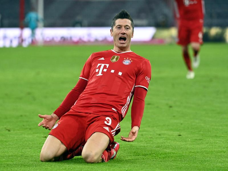 Bayerns Stürmer-Star Lewandowski hat nach 25 Bundesliga-Spieltagen bereits 32 Tore erzielt. Foto: Sven Hoppe/dpa-POOL/dpa