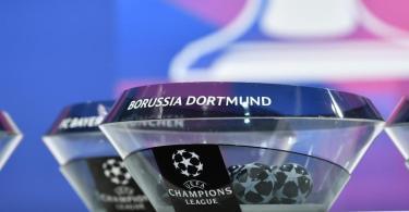 Auslosung des Viertelfinales der Champions League. Foto: Harold Cunningham/UEFA/dpa