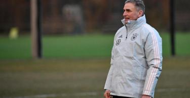 Trainer Stefan Kuntz bereitet die deutsche U21-Auswahl auf die EM vor. Foto: Marton Monus/dpa
