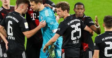 Die neunte Meisterschaft in Serie ist dem FC Bayern kaum noch zu nehmen. Foto: Alexander Hassenstein/Getty POOL/dpa