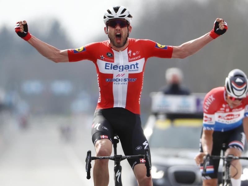 Kasper Asgreen heißt der Sieger der 105. Flandern-Rundfahrt. Foto: David Pintens/BELGA/dpa
