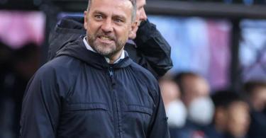 Muss gegen PSG wohl auf Serge Gnabry vertzichten: Bayern-Coach Hansi Flick. Foto: Jan Woitas/dpa-Zentralbild/dpa