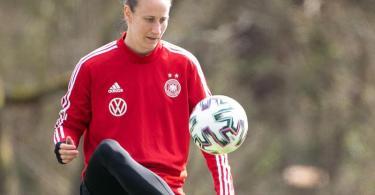 Kommt gegen Norwegen zum Einsatz: Torhüterin Ann-Katrin Berger. Foto: Sebastian Gollnow/dpa