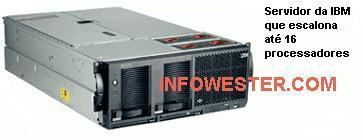 Servidor da IBM com suporte a até 16 processadores