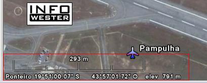 Informações no rodapé do Google  Earth