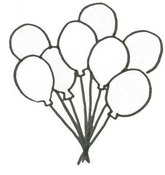 Malvorlage Ballons Geburtstag Ausmalbild Fr Kinder