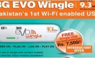 PTCL introduces Pakistan's First WiFi Enabled USB '3G EVO Wingle' with 9.3 Mbps Speed