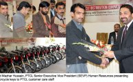 PTCL Gives Motorcycles to its Customer Care Staff