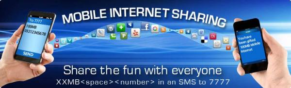 Warid Mobile Internet Sharing