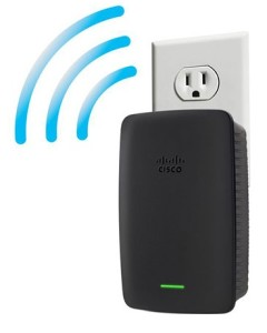 Linksys-RE2000-Dual-band-Wireless-N-Range-Extender-wall