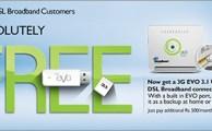 PTCL Offering Free EVO USB to all DSL Broadband Customers