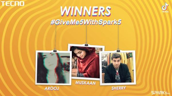 #GiveMe5WithSpark5
