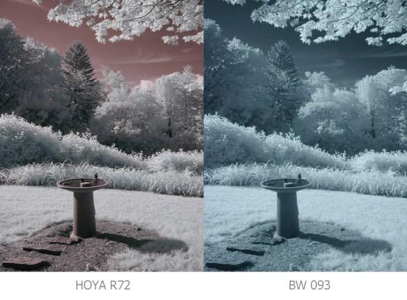 b+w 093 & hoya R72 kızılötesi filtre karşılaştırması