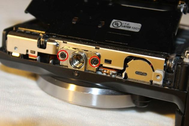 sony tripod mount screw repair