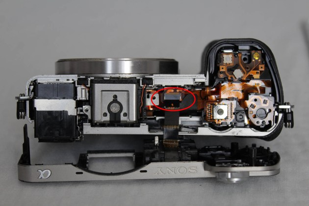 sony a6000 flash connection flex cable