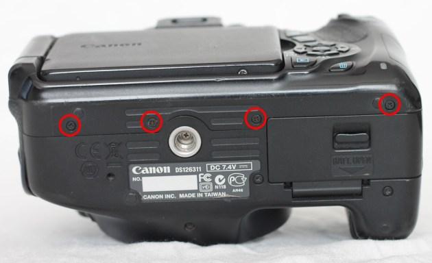 canon 600d bottom