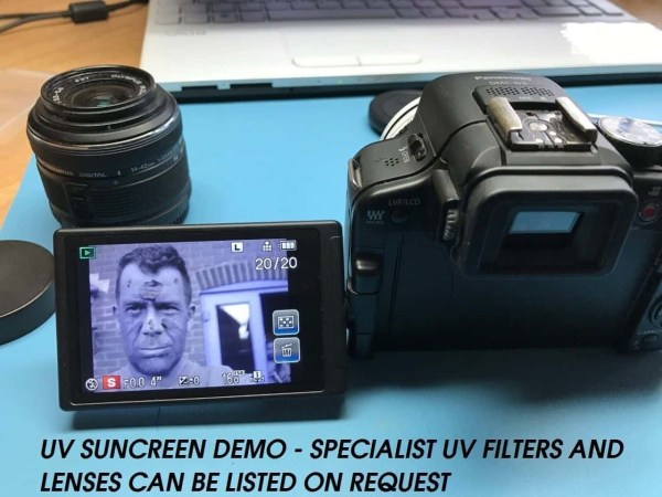 uv sunscreen camera
