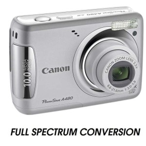 infrared converted compact camera