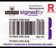 ROYALMAIL SPECIAL DELIVERY UPGRADE