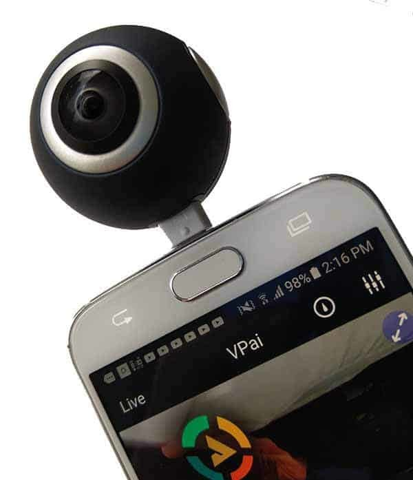 360 degree night vision capable cameras and camcorders for android