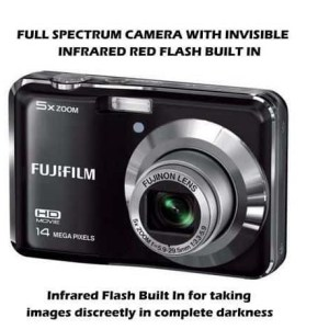 FULL SPECTRUM GHOST HUNTING CAMERA INVISIBLE IR FLASH