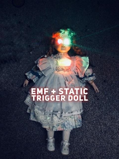 EMF and Static Haunted Doll for Ghost Hunting