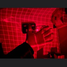 red laser grid paranormal ghost