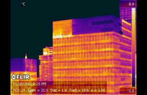 Corner of building with no heat - Infrared Imaging Services LLC