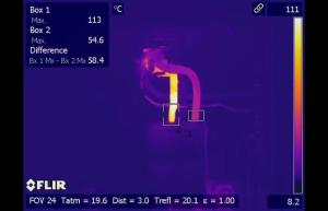 Infrared inspection detects hot breaker connection on aluminum wire - Infrared Imaging Services LLC