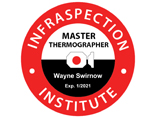 Master Thermographer badge logo - Block Wall Scan Infrared