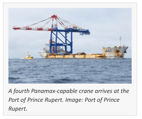 Port of Prince Rupert Acquires Another Crane to Compete for Panamax Ships