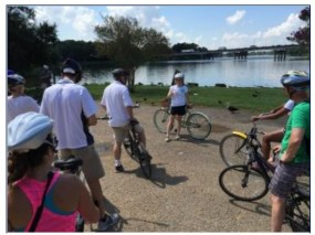 UPGRADES SURROUNDING THE LAKES AREA ARE AN EMERGING OPPORTUNITY TO LINK A BIKESHARE SYSTEM INTO INFRASTRUCTURE IMPROVEMENTS (CREDIT: KOSTELEC PLANNING)