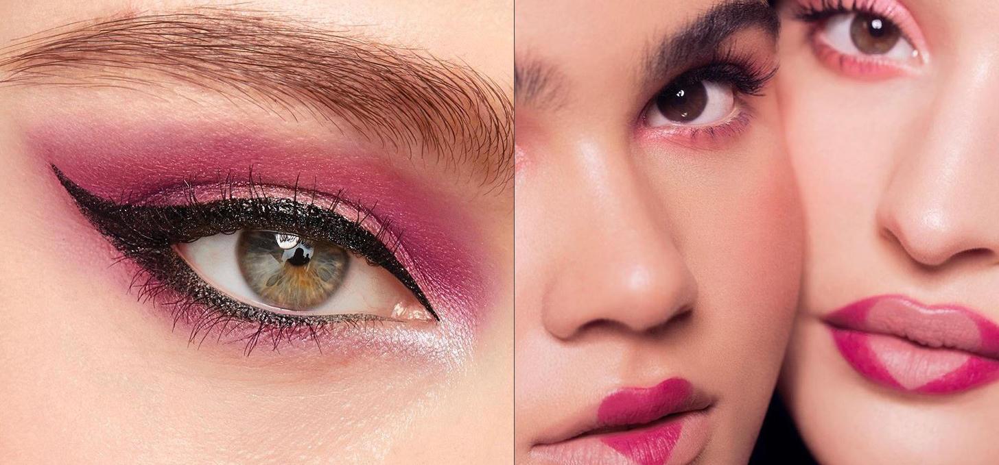 maquillaje de ojos tendencias 2020 sombras rosas Maybelline