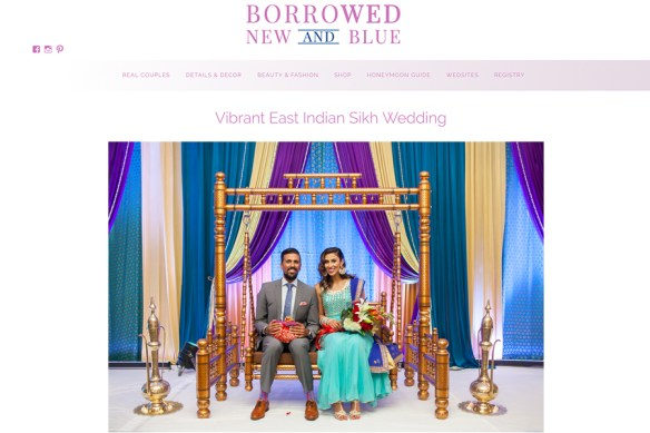 Borrowed New & Blue featured East Indian Wedding :: Chanpreet + Lovneet