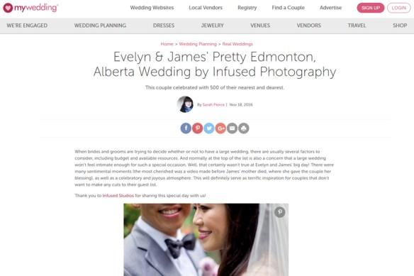 Featured Edmonton Wedding Photography on My Wedding