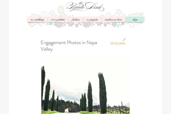 Tammy + Dickson Napa Valley engagement session on The Bride Link