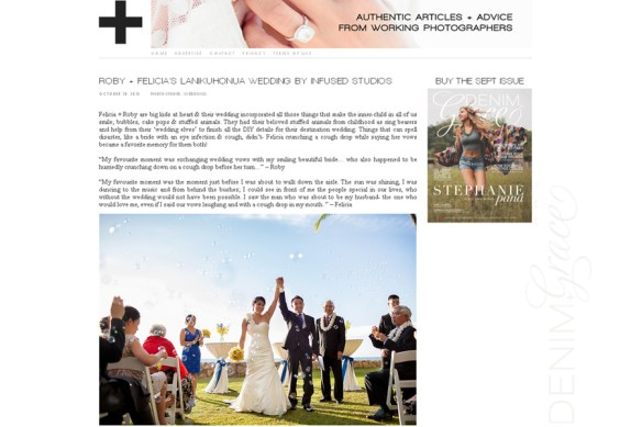 Felicia + Roby :: Real Wedding featured on Denim + Grace