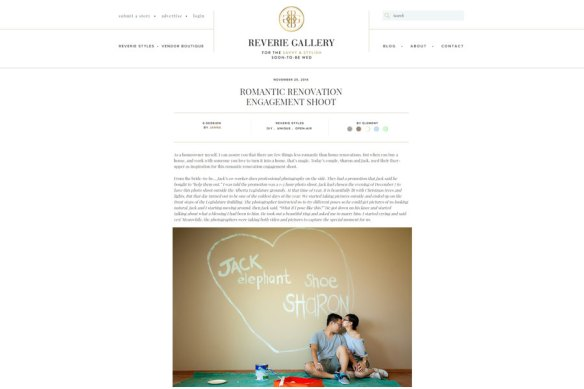 Sharon + Jack featured engagement session on Reverie Gallery